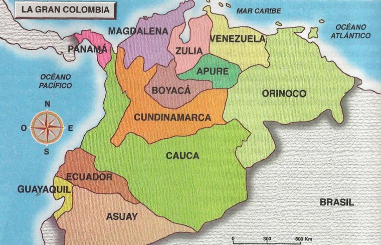Mapa de la gran colombia
