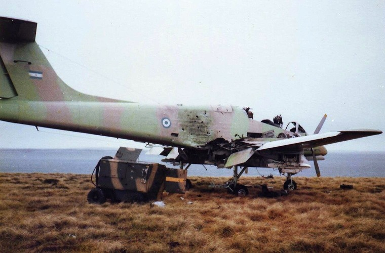 Destroyed_Argentine_Pucara_aircraft_Pebble_Island_1982