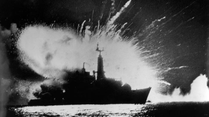 Frigate Explodes