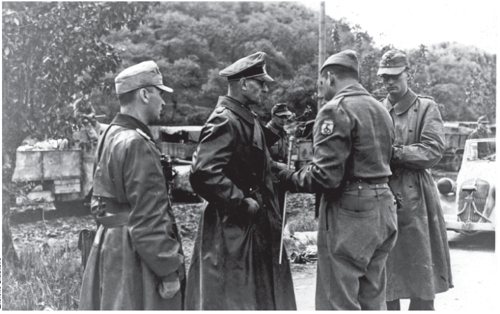 German General Otto Fretter-Pico, commander of the 148th Infantry Division, and Italian General Mario Carloni surrender to Brazilian troops on April 28, 1945.
