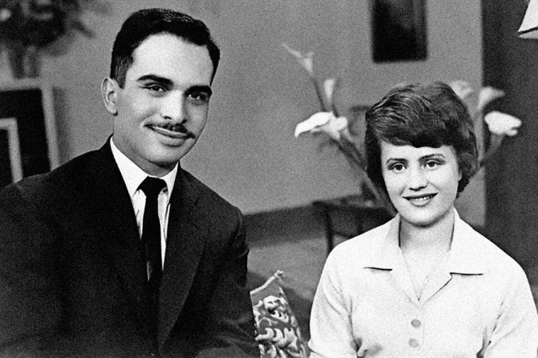 King Hussein and Princess Muna